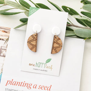 Empress studs - jewellery - eco friendly - sustainable jewelry - jewelry - One Happy Leaf