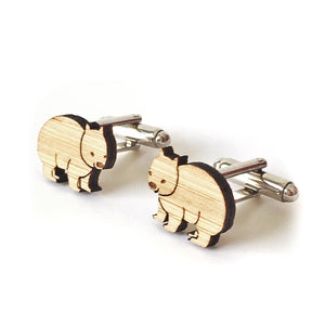 Wombat cufflinks - jewellery - eco friendly - sustainable jewelry - jewelry - One Happy Leaf