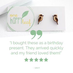 Kookaburra stud earrings