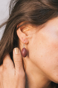 Aša Earrings - Bordeaux