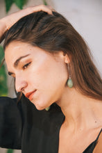 Load image into Gallery viewer, Aša Long Earrings - Green