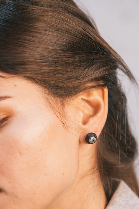 Aisha Earrings - Matte Black