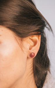 Simí Earrings - Bordeaux