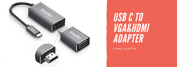 USB C to HDMI VGA Adapter (C3)