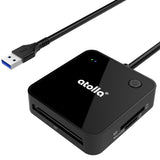 atolla 4-Port USB 3.0 Card Reader(CR01)