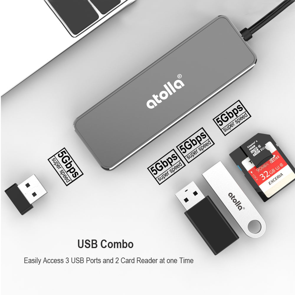 atolla USB 3.0 Hub with Card Reader ( A1)