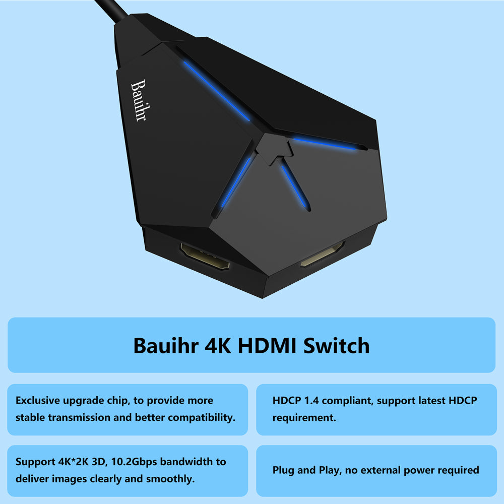 BAUIHR 3x1 HDMI Switch (H2)