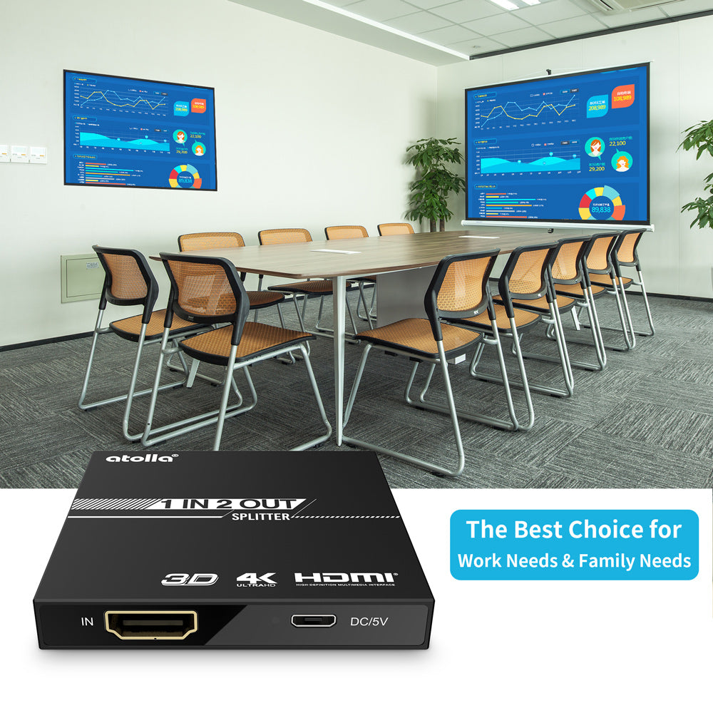 atolla Super Mini 2-Port HDMI® Splitter (H3)