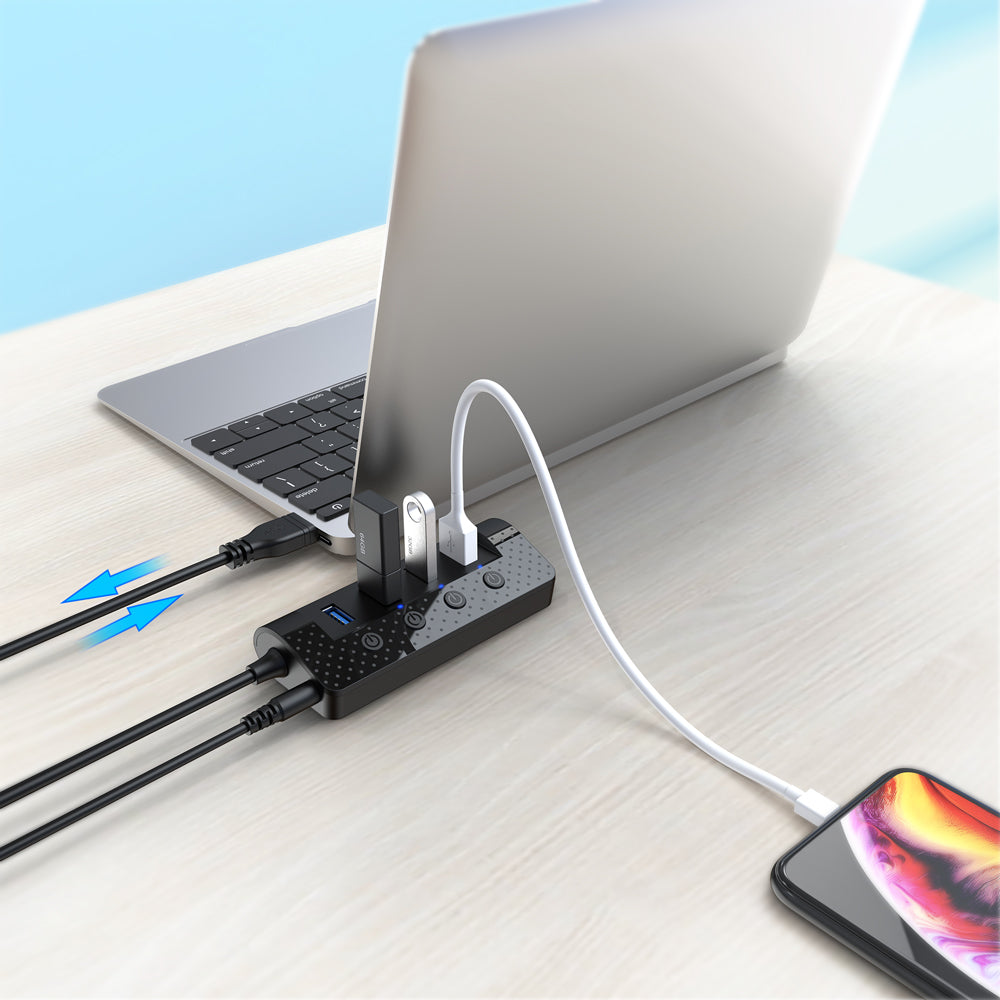 atolla 4-Port USB 3.0 Hub with Power Adapter (U06K)
