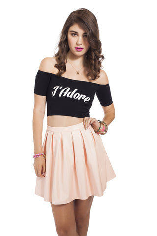 J'Adore Off-The-Shoulder Crop Top