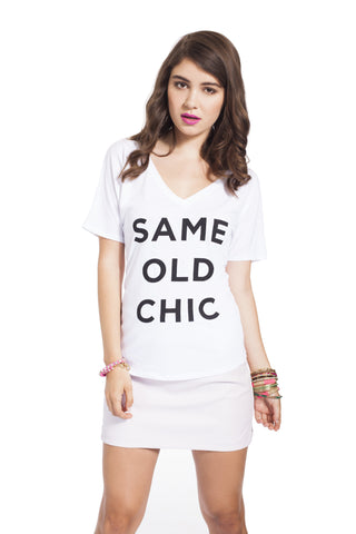 Same Old Chic V-Neck Tee