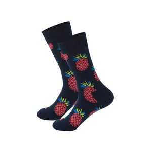 Pineapple Print Soft Novelty Socks