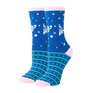 Cosmic Print Novelty Socks