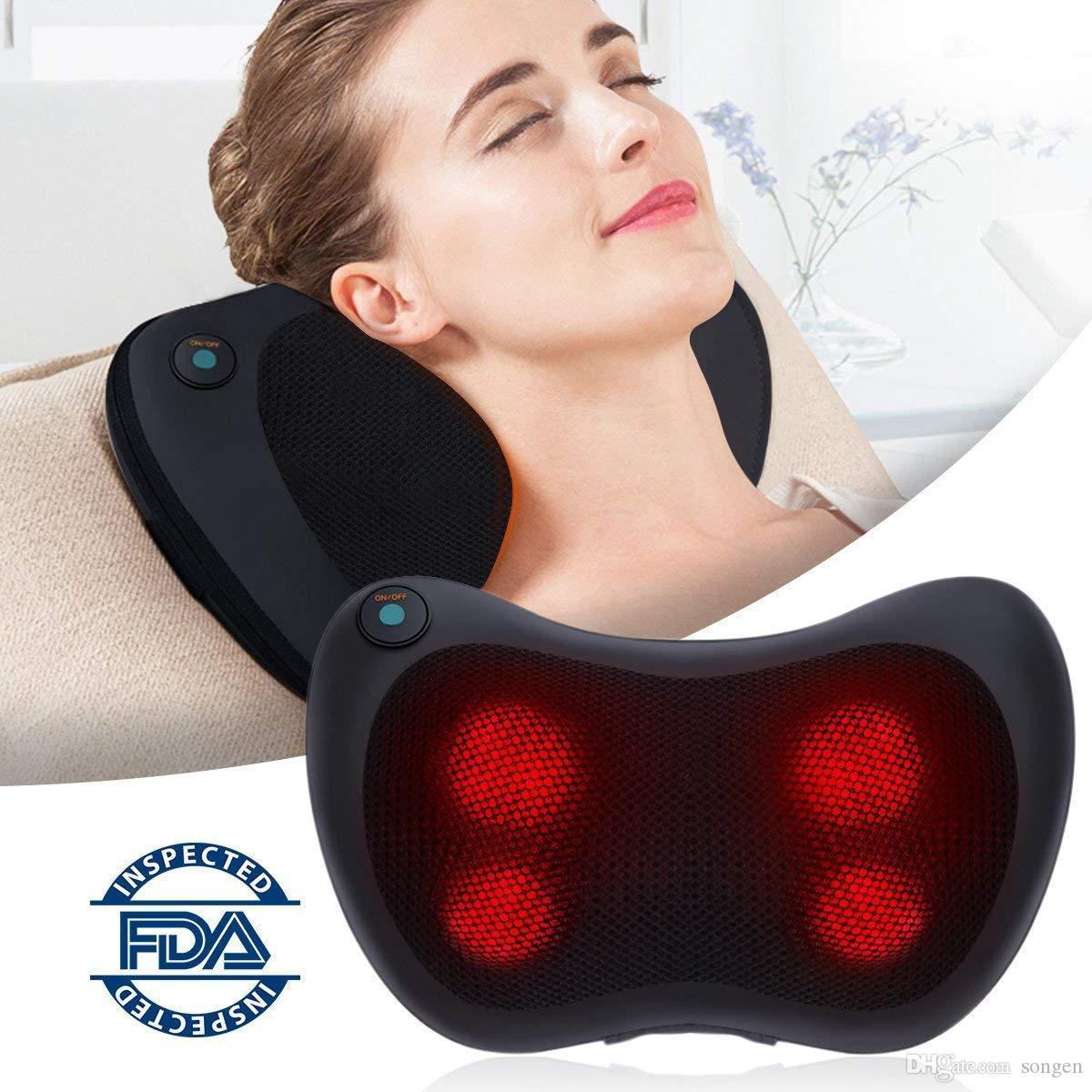 Shiatsu Neck Shoulder & Back Massager with Heat - Car Seat Head Rest Ready