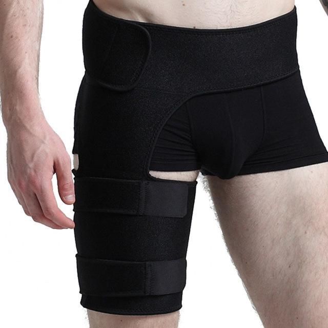 Hip Thigh Sciatic Nerve Brace Compression Support Sacroiliac SI Joint Pain Relief - Hamstring, Groing Pulls