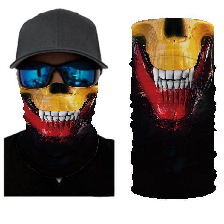 SKULL BANDANAS HEADBAND SHIELD UNISEX NECK GAITER FOR OUTDOOR SPORTS - Best Compression Socks Sale