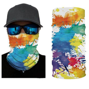 Colorful RED Orang Blue Black White & Yellow  BANDANAS HEADBAND SHIELD UNISEX NECK GAITER FOR OUTDOOR SPORTS - Best Compression Socks Sale