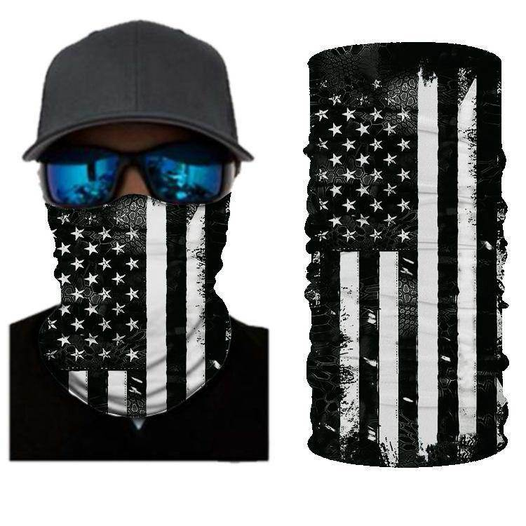 American Flag BANDANAS HEADBAND SHIELD UNISEX NECK GAITER FOR OUTDOOR SPORTS