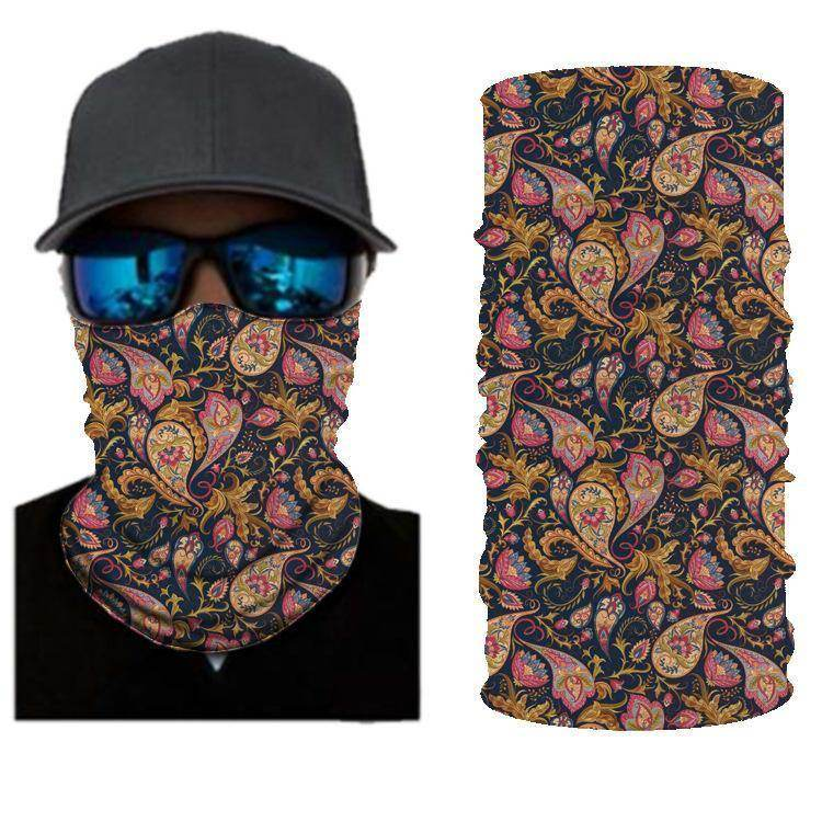 FLOWER COLORED BANDANAS WOMEN HEADBAND SHIELD UNISEX NECK GAITER FOR OUTDOOR SPORTS