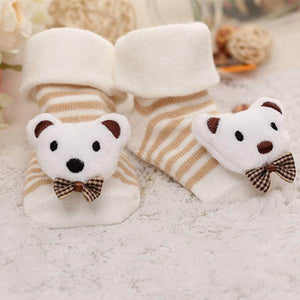 {BUY 2 GET 1 FREE}Baby Socks Floor Non-slip Cotton Cartoon Doll socks with bells Baby Girls Boys Soft Cute Boots