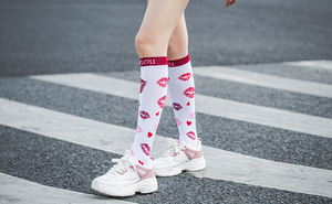 Fit Compression Socks with Graduated Target Zones 20-30 mmHg Support Stockings