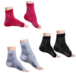 Compression Foot Sleeves - Open Toe Socks for Plantar Fasciitis and Arch Pain