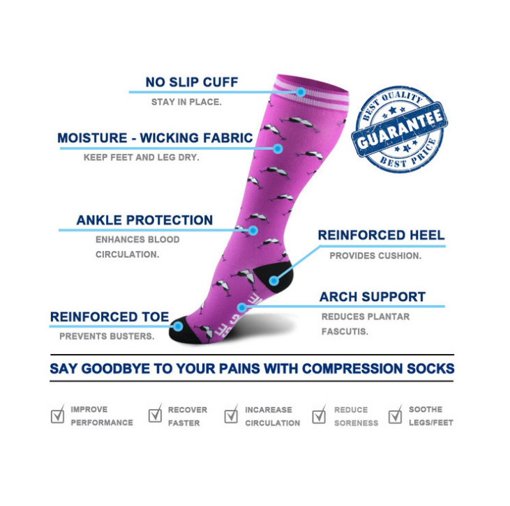Designer Compression Socks - Support Stockings ~ Reduce Swelling