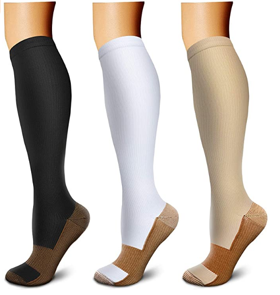 Compression Socks Compression Stockings(3 Pairs) for Women & Men-Workout And Recovery