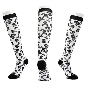 Halloween Skull Compression Socks Support 20-30mmHg-For Men and Women-Workout And Recovery