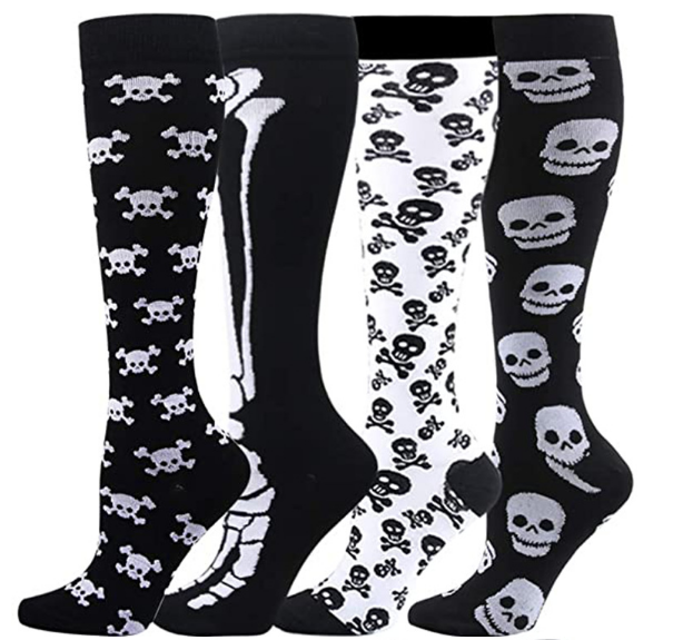 Halloween Skull Compression Socks Support 20-30mmHg-For Men and Women-Workout And Recovery - Best Compression Socks Sale