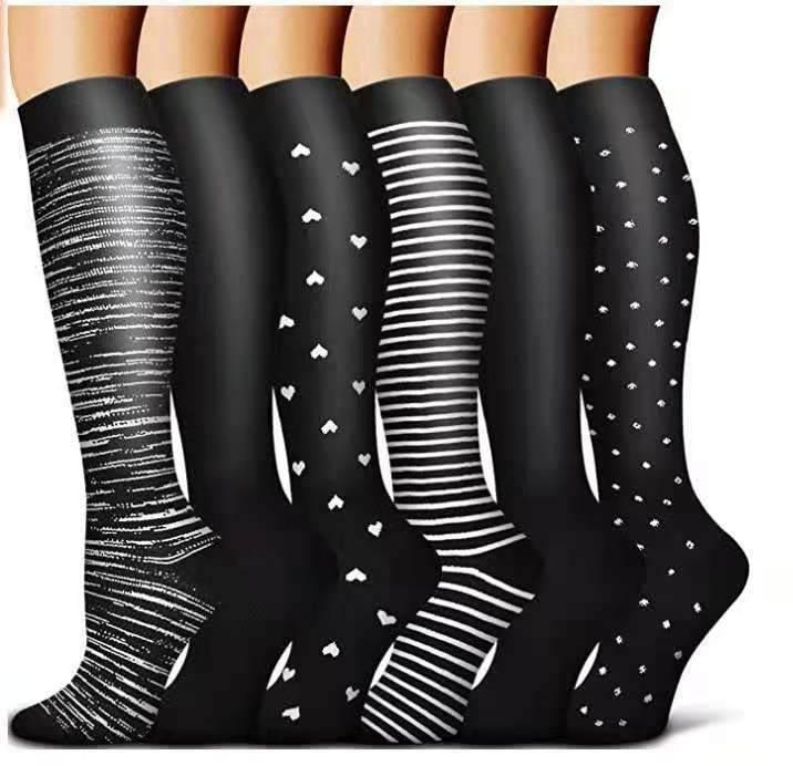 #5 Copper Compression Socks Women & Men Circulation(6 pairs) - Best for Running,Nursing,Hiking,Recovery & Flight Socks - Best Compression Socks Sale