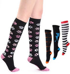 Fun Stylish Compression Socks 20-30 mmHg Graduated Support Stockings