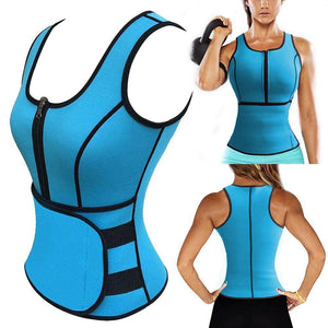 Sauna Slimming Vest Waist Trainer Adjustable Velcro Sweat Trimmer Belt