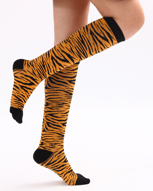 Animal Print Compression Socks 20-30 mmHg Support Stockings for Energizing Recovery