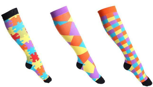 Fun Compression Socks 20-30 mmHg Support Stockings for Circulation, Swelling & Energy