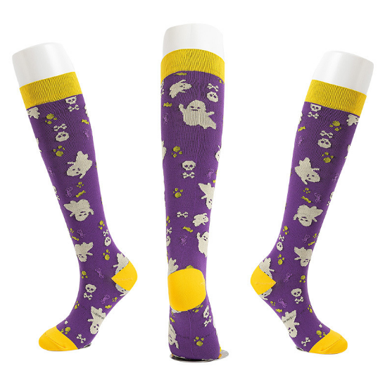 The Latest Halloween Compression Socks Support 20-30mmHg-For Men and Women-Workout And Recovery