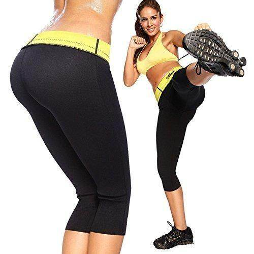Sauna Pants Sweat Waist Slimming Weight Loss Hot Shaper Fat Burn Capris
