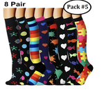 Compression Socks (7/8 Pairs) for Women & Men - Best Compression Socks Sale