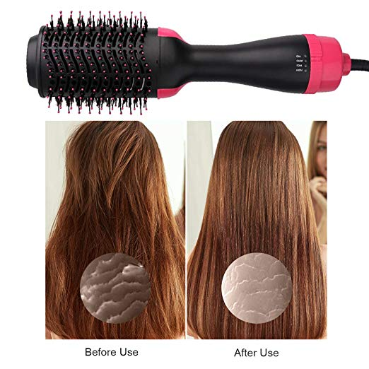 Multifunctional hot air comb negative ion hair dryer comb hair straightener comb hair dryer