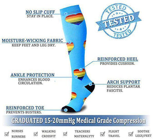 Best Compression Socks 6 Pairs for Women & Men-Workout And Recovery/Pack#9 - Best Compression Socks Sale