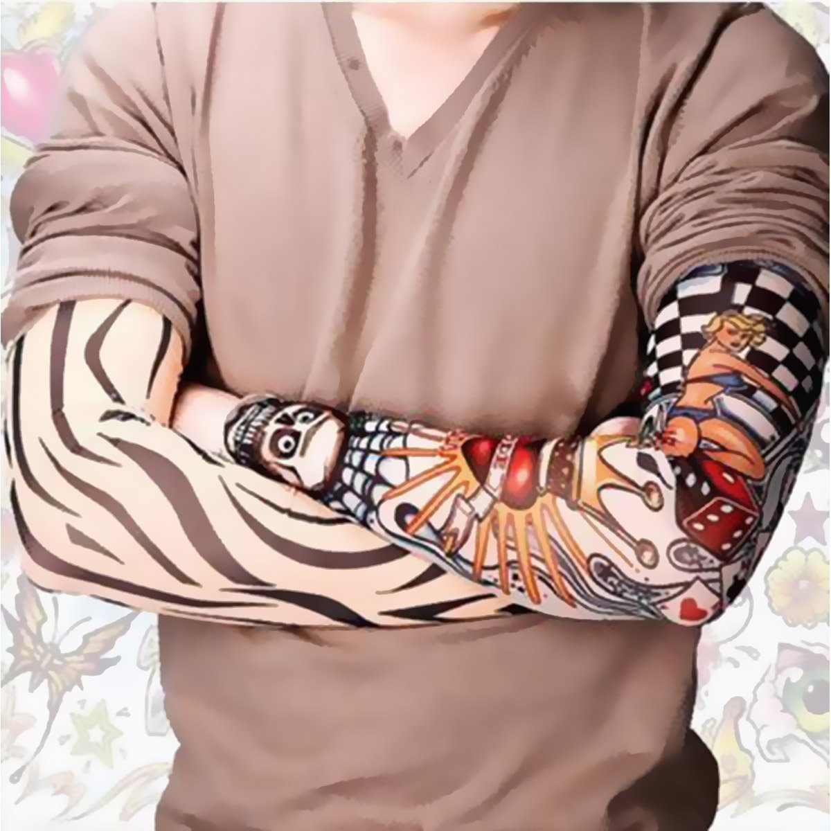 Temporary Tattoo Arm Sunscreen Sleeves (6 pcs Set )