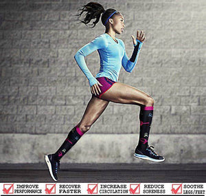 Best Compression Socks 6 Pairs for Women & Men-Workout And Recovery/Pack#10