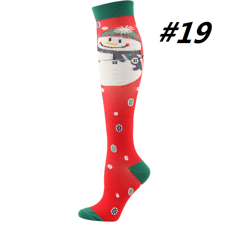 Christmas Compression Socks (1 Pair) for Women & Men #19