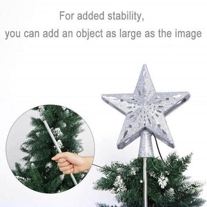 3D Hollow Gold Silver Star Christmas Tree Topper - Best Compression Socks Sale