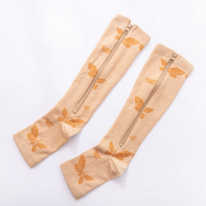 Zippered Open Toe Compression Socks Support Stockings 20-30 mmHg ( enjoy 50% OFF now)