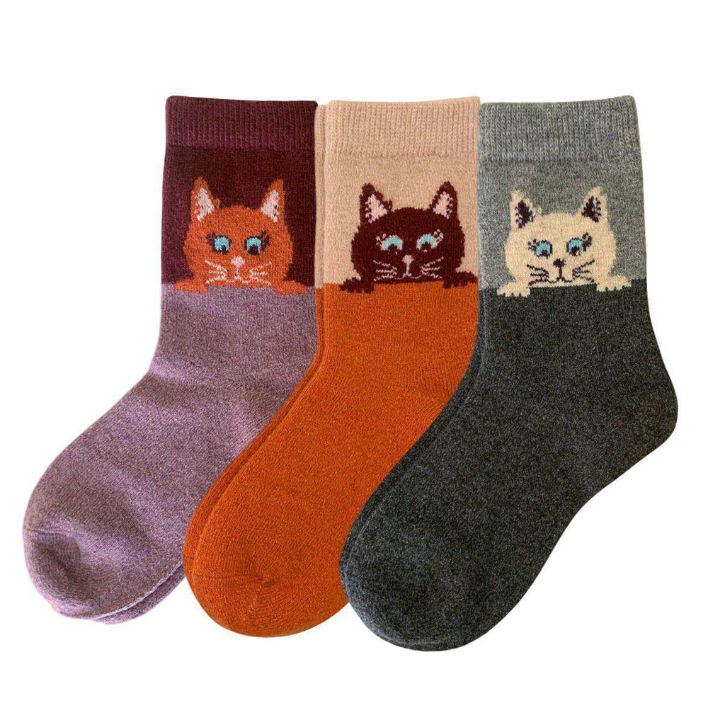 PEEKABOO CAT WOOL BLEND SOCKS - Best Compression Socks Sale
