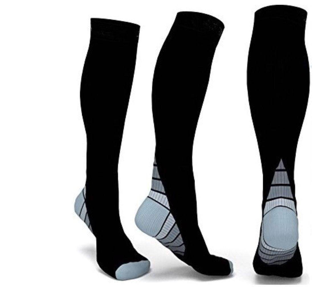 Athletic Fit Compression Socks with Graduated Target Zones 20-30 mmHg Support Stockings - Best Compression Socks Sale