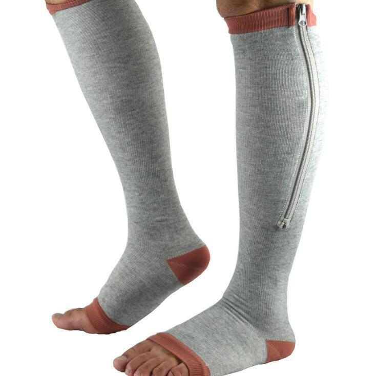 Zippered Compression Socks Support Stockings 20-30 mmHg
