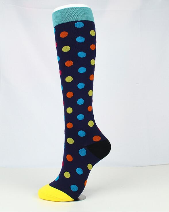 Wave point compression socks