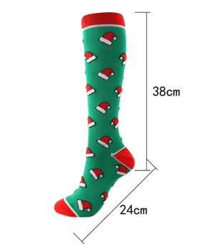 The Latest Christmas Compression Socks support 20-30mmHg-Beauty and Benefit to your feet.